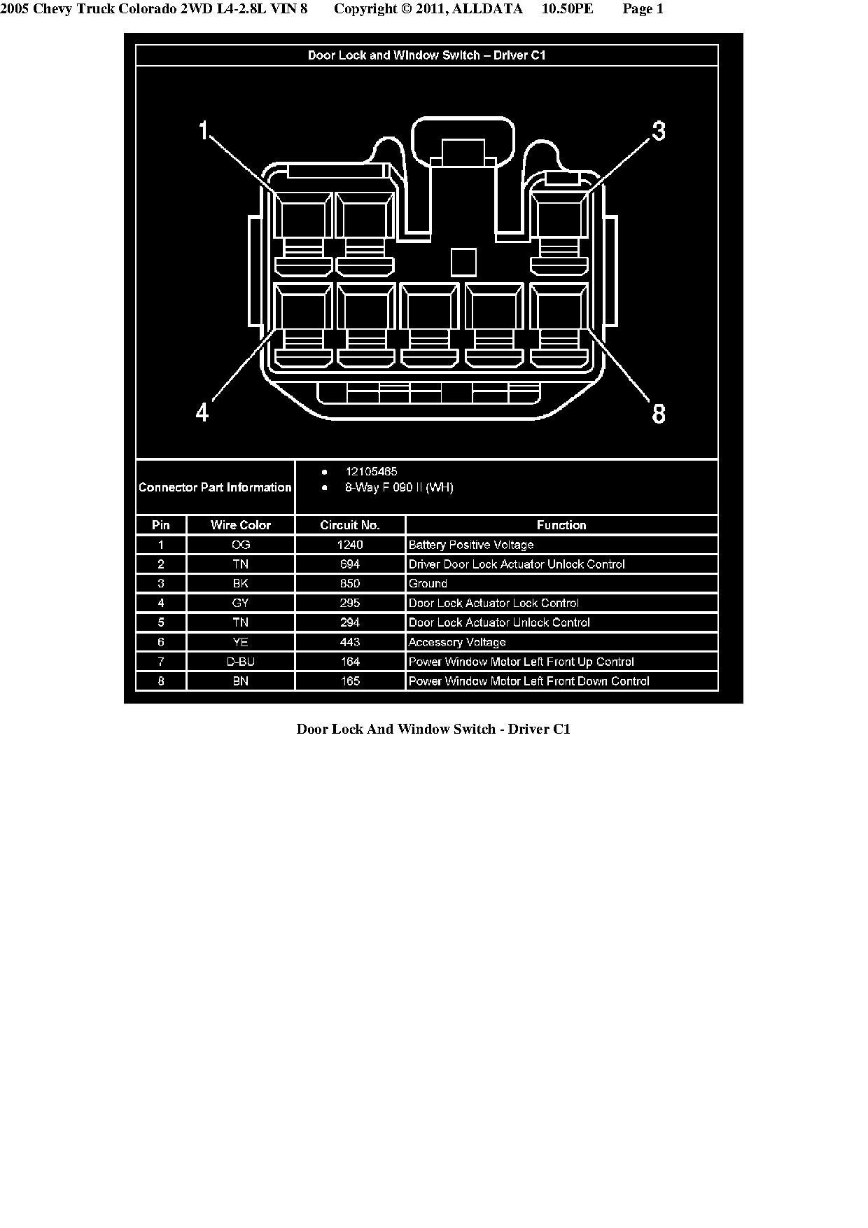 how to adding factory power windows locks mirrors chevrolet Chevy Colorado Body Diagram